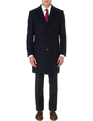 HUGO BOSS Stratus wool and cashmere-blend coat