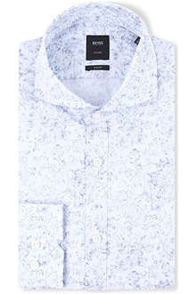 HUGO BOSS Swain slim-fit single-cuff shirt