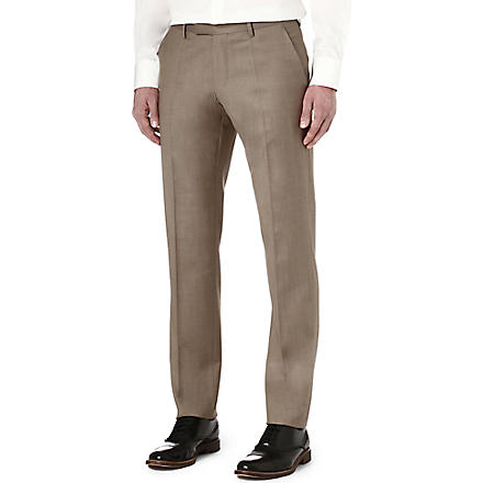 HUGO BOSS T-Court wool trousers (Tan