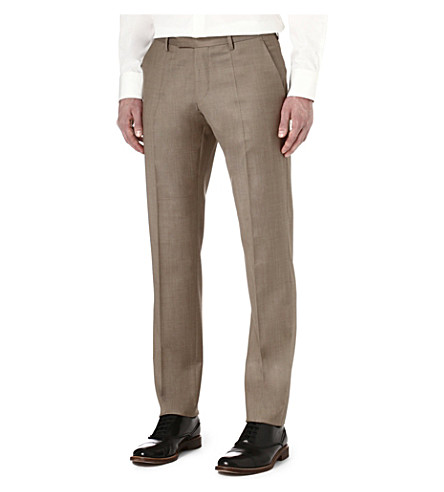 HUGO BOSS T-Court wool trousers (Tan