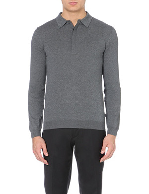 HUGO BOSS Tesoro wool polo shirt