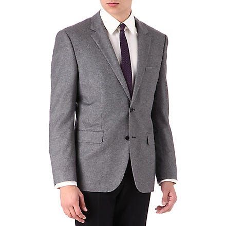 HUGO BOSS The Keys regular-fit wool blazer (Grey
