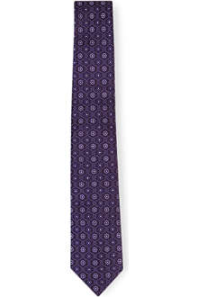 HUGO BOSS Floral tile-pattern tie
