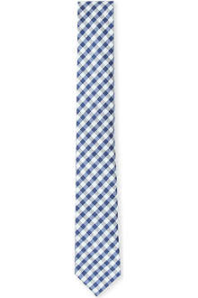 HUGO BOSS Gingham-check tie