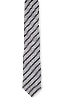HUGO BOSS Textured striped silk tie