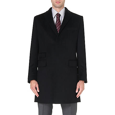 HUGO BOSS T-Neon cashmere coat (Black