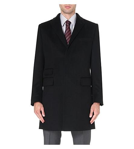HUGO BOSS T-Neon cashmere coat (Black