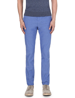 HUGO BOSS Slim mid-rise cotton trousers