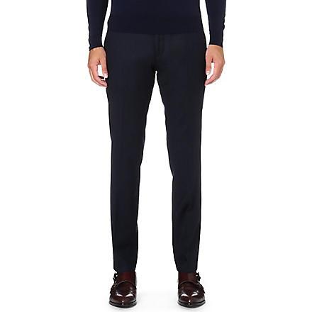 HUGO BOSS Wilhelm slim-fit wool trousers (Navy