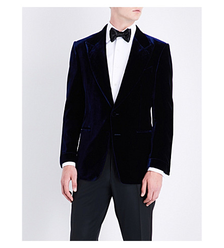 TOM FORD Shelton slim-fit velvet jacket (Purple