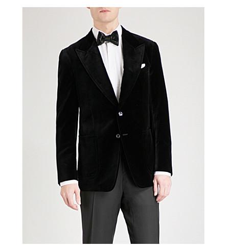 TOM FORD Shelton-fit velvet evening jacket (Black