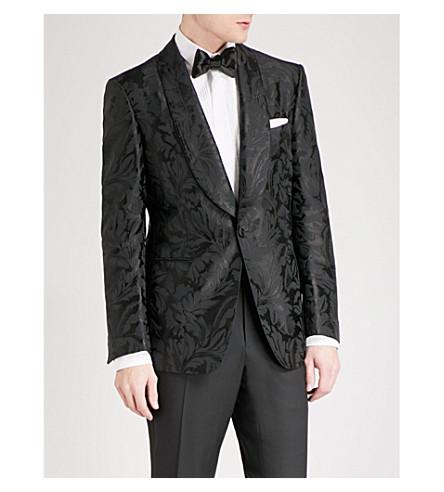 TOM FORD Shelton-fit floral jacquard evening jacket (Black