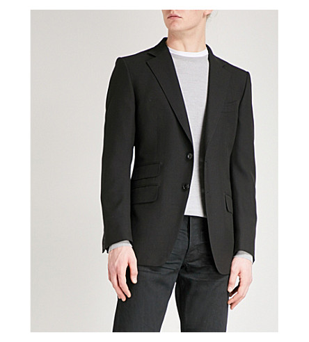 TOM FORD O'Connor-fit woven jacket (Black