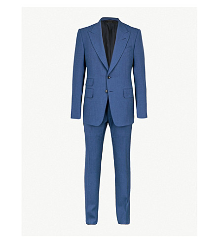 TOM FORD Shelton-fit wool suit (Blue
