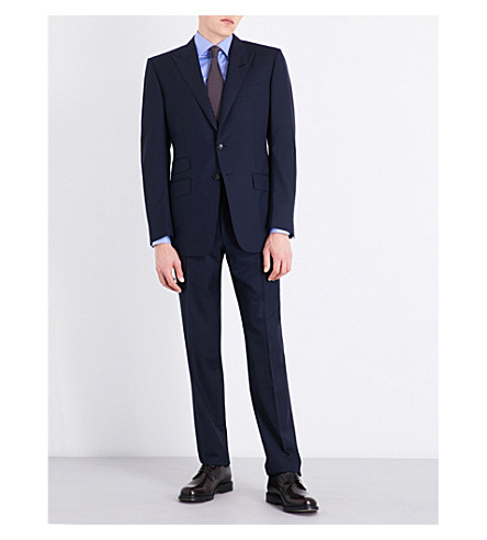 TOM FORD Slim-fit wool suit (Navy