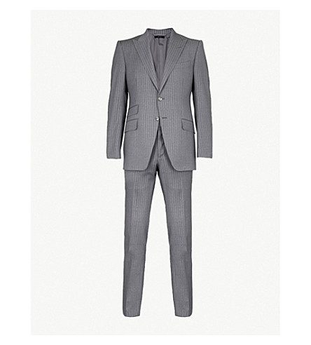 TOM FORD Shelton slim-fit wool suit (Grey