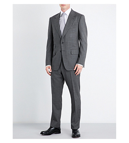 TOM FORD Slim-fit wool and silk-blend suit (Grey
