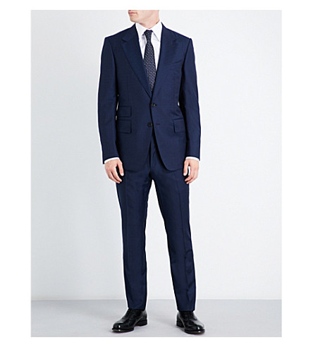 TOM FORD Shelton slim-fit wool suit (Bright+blue