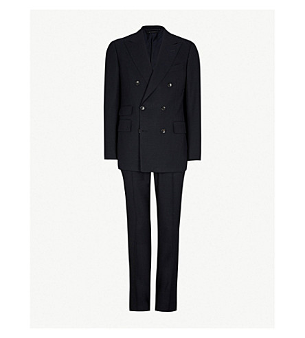 TOM FORD Shelton-fit wool suit (Midnight
