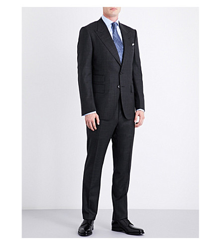 TOM FORD Shelton slim-fit wool and silk-blend suit (Charcoal