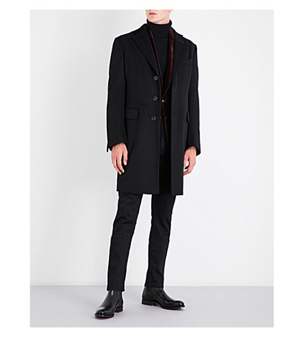 TOM FORD Single-breasted cashmere coat (Black