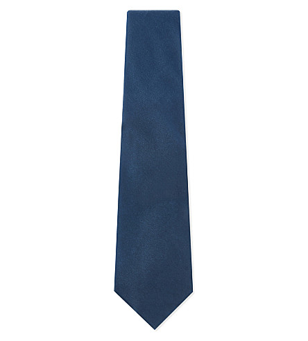 TOM FORD Velvet evening tie (Blue+green