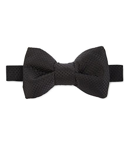 TOM FORD Jacquard weave silk bow tie (Black