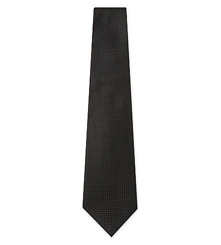 TOM FORD Diamond pattern silk tie (Black