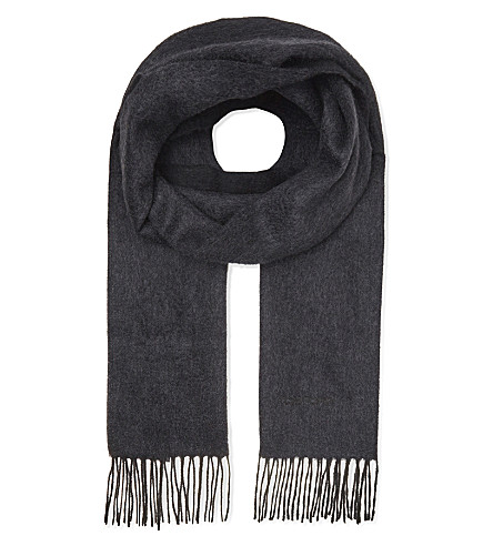 TOM FORD Solid cashmere scarf (Blue