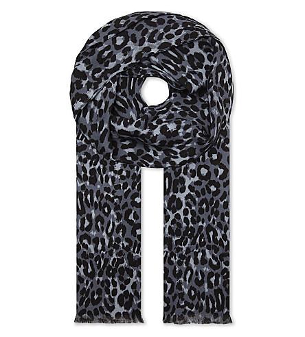 TOM FORD Printed silk scarf (Blue
