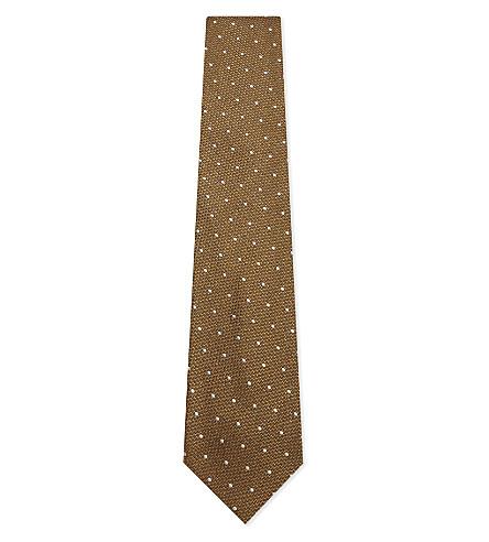 TOM FORD Polka-dot silk tie (Gold