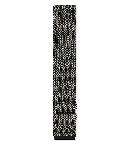 TOM FORD Knitted square-cut tie (Black