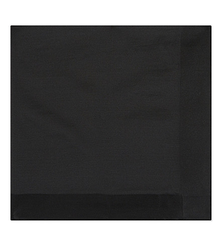 TOM FORD Solid silk pocket square (Black