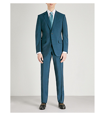 TOM FORD O'Connor-fit wool, mohair and silk-blend suit (Green
