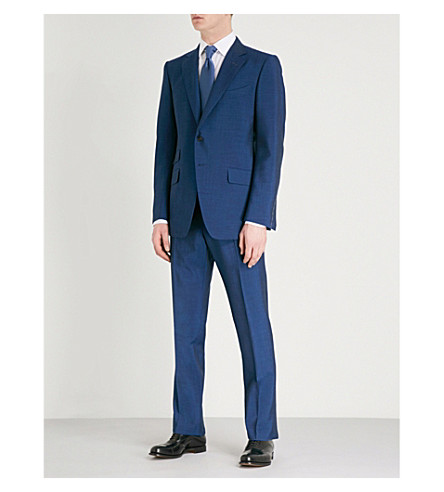 TOM FORD O'Connor-fit wool, mohair and silk-blend suit (Blue