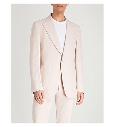 TOM FORD Shelton-fit linen jacket (Pink