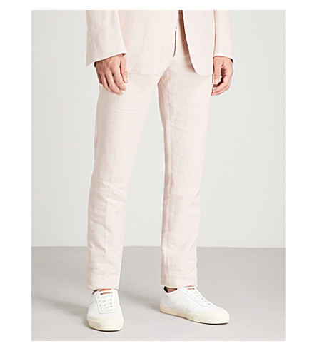 TOM FORD Regular-fit tapered linen trousers (Pink