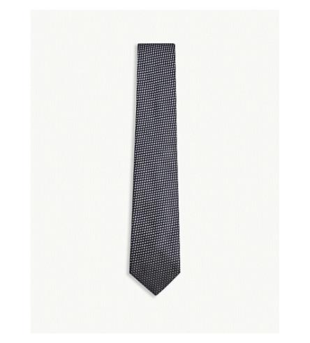 TOM FORD Spot pattern silk tie (Blue