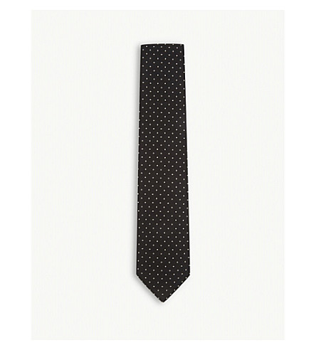 TOM FORD Polka-dot silk tie (Black