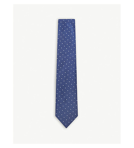 TOM FORD Polka-dot silk tie (Blue