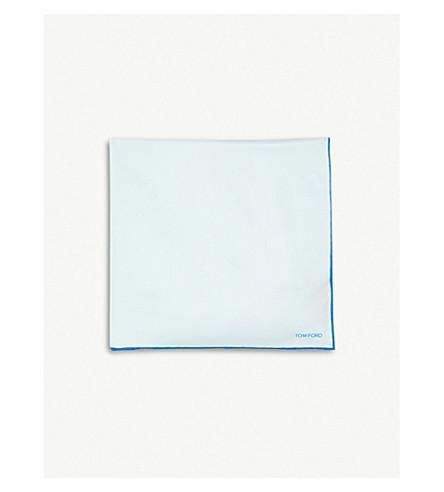 TOM FORD Solid Edge silk pocket square (Blue