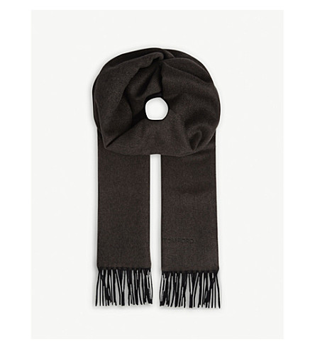 TOM FORD Solid cashmere scarf (Grey