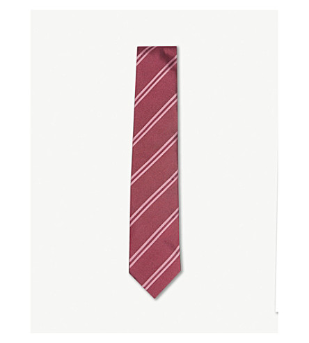 TOM FORD Diagonal-stripe silk tie (Fuschia