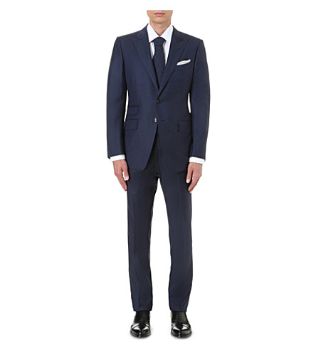 TOM FORD Two-piece wool suit (Blue