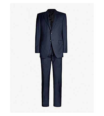 TOM FORD Windsor-fit wool suit (Navy