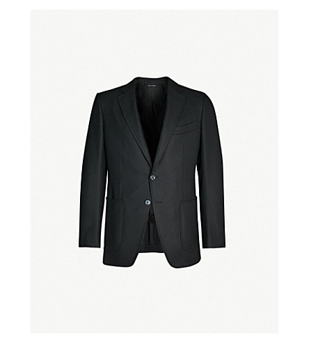 TOM FORD O'Connor-fit wool and mohair-blend suit (Black