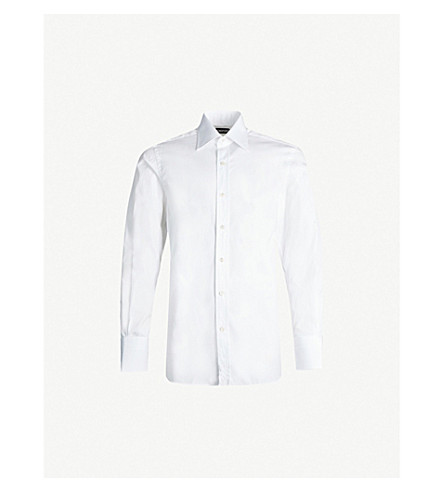 TOM FORD Classic-fit cotton-poplin shirt (White
