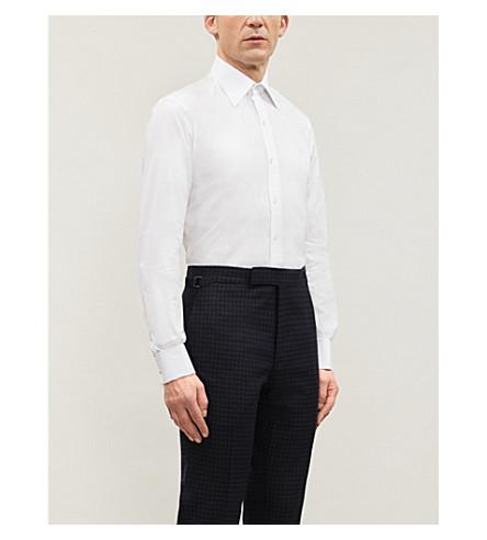 TOM FORD 经典-适合棉府绸衬衫 (白色