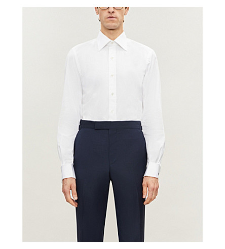 TOM FORD Classic-fit double-cuff cotton shirt (White