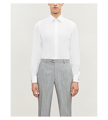 TOM FORD Classic-fit single-cuff cotton shirt (White